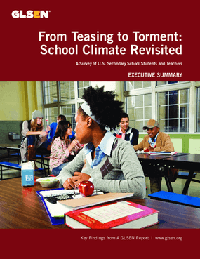 From Teasing to Torment: School Climate Revisited - A Survey of U.S. Secondary School Students and Teachers, Executive Summary