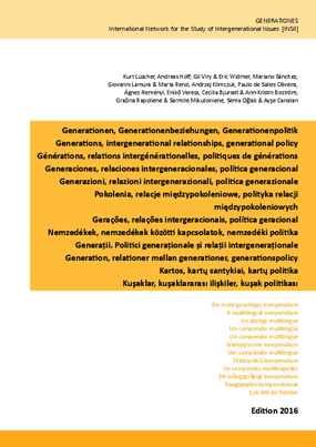 Generations, intergenerational relationships, generational policy: A multilingual compendium