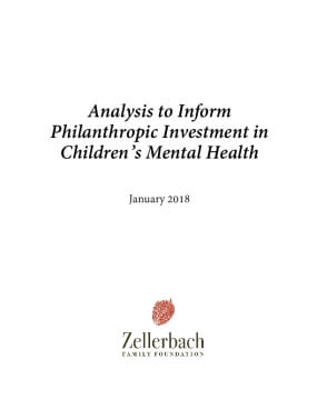 Analysis to Inform Philanthropic Investment in Children's Mental Health
