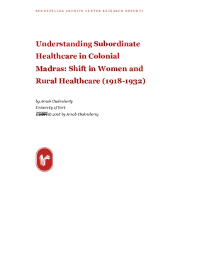 Understanding Subordinate Healthcare in Colonial Madras: Shift in Women and Rural Healthcare (1918-1932)