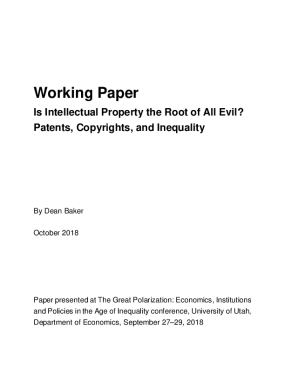 Working Paper: Is Intellectual Property the Root of All Evil? Patents, Copyrights, and Inequality