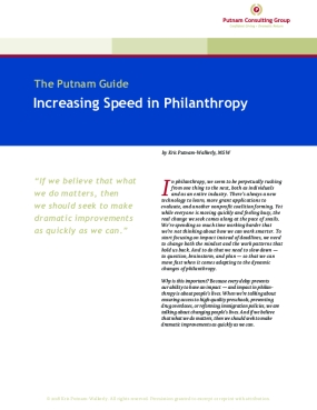 Increasing Speed in Philanthropy