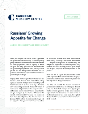 Russians' Growing Appetite for Change