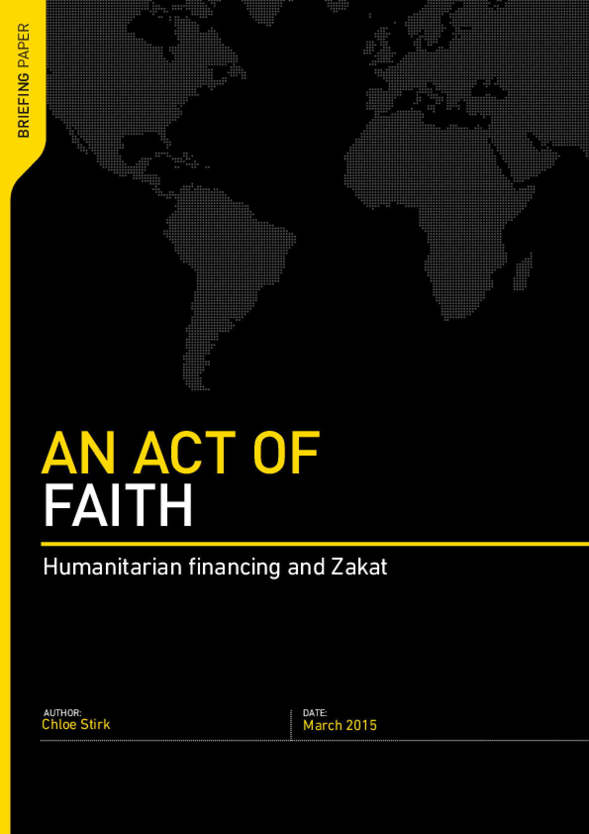 An Act of Faith : Humanitarian Financing and Zakat