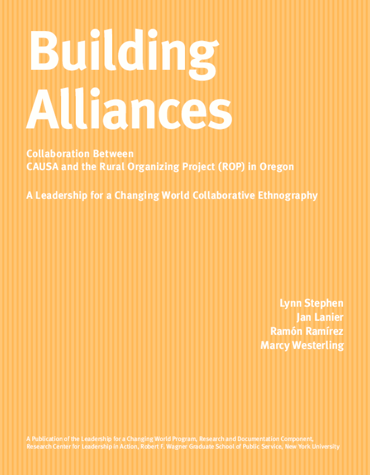 Building Alliances: Collaboration between CAUSA and the Rural Organizing Project in Oregon