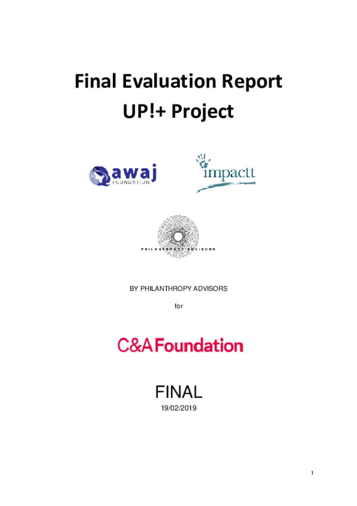 External Evaluation Report of UP! + Community-based, Worker Training Programme