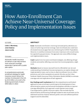 How Auto-Enrollment Can Achieve Near-Universal Coverage: Policy and Implementation Issues